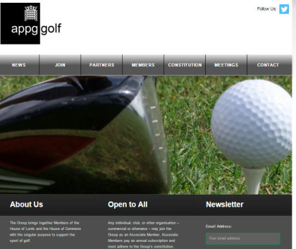 Parliamentary Golf Group website