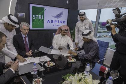 STRI AZF signing ceremony