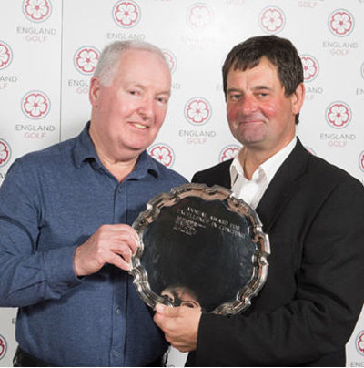 Terry Casey - Outstanding Contribution to Coaching, pictured top receiving his award from England men's coach, Graham Walker (© Leaderboard Photography)