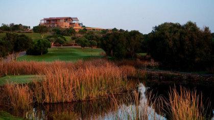 The clubhouse at Espiche Golf The Algarve