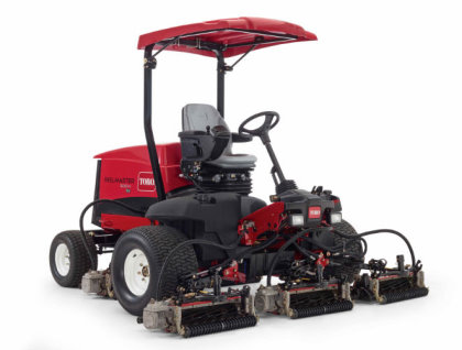 The Toro Reelmaster 5010-H, the first true hybrid fairway mower available on the market, is debuting at the show and headlining a wide range of energy efficient Toro mowers