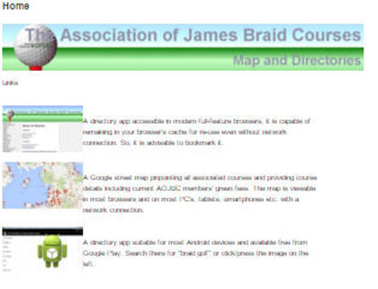 Association of James Briad Courses website