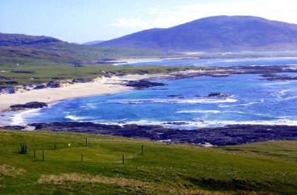 A slice of island life: Barra Golf Club's members are trying to raise funds for a much-needed clubhouse (Picture: Duncan MacKinnon)