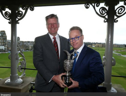 Martin Slumbers, Chief Executive of The R&A (left) and Keith Pelley, Chief Executive of The European Tour