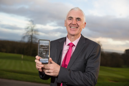 Phil Price at the Golf Union of Wales Awards 2016. Celtic manor Resort 03.02.16 ©Steve Pope - Sportingwales