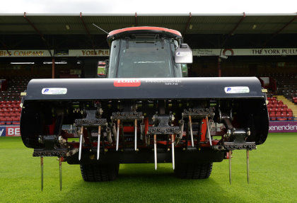 The Toro ProCore SR72 with solid tines ready for action