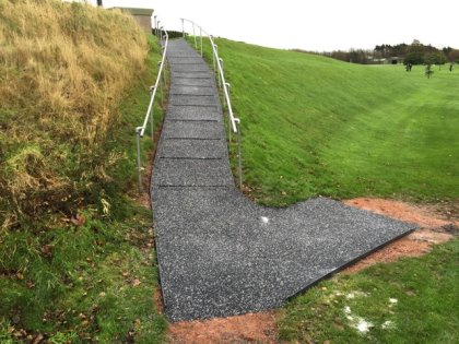 Trailflex, the highly flexible porous paving system, improving safety at Heysham Golf Club