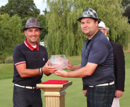 Trilby Tour Kent champion, Nick Francis, left, with last year's regional winner Scott Woolford
