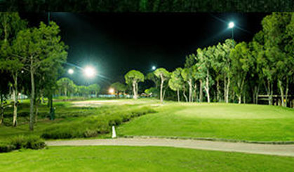 Carya Golf Course by night, 'Europe's only fully-floodlit course'
