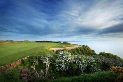 The launch pad for THE SCOTLAND LDET Championship, the 17th hole of The Kittocks at Fairmont St Andrews