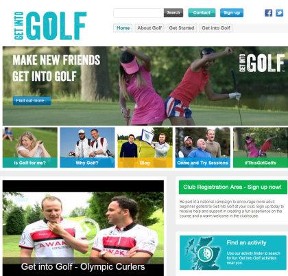 Get into Golf Scotland website