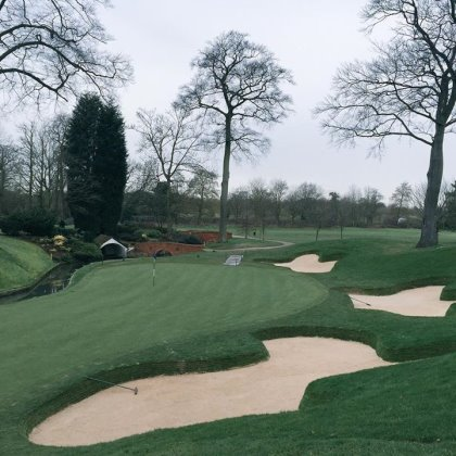 New bunkering on the famous 10th hole of The Brabazon
