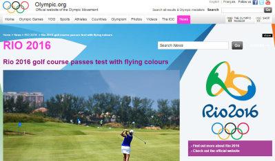 Olympic Golf report