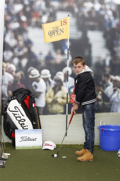 The Golf Foundation's Putting Challenge at The Open was supported by Titleist