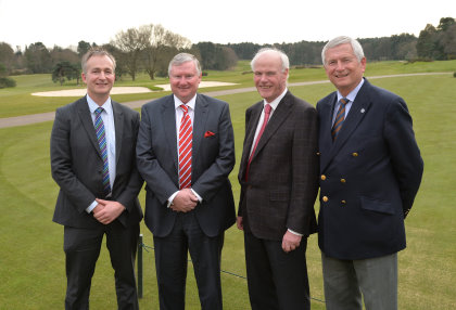From left: Brendon Pyle (Chief Executive), Stephen Lewis (incoming Chairman), Sandy Jones (new President) and Charles Harrison (current Golf Foundation Chairman)