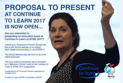 Proposal to present BTME2017