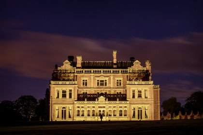 Rossington Hall at night
