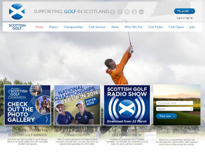 Scottish Golf webgrab