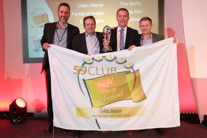 'Ultimate Golf Resort, Celtic Manor' (from left) Matt Roberts (59club), Simon Wordsworth (59club), Will Hewitt (Celtic Manor), Mark Reed