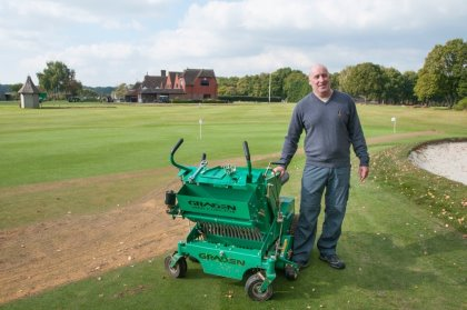 West Sussex GC Course Manager Ian Streeter