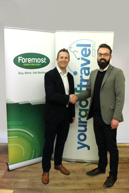 Foremost Director Andy Martin (left) with Euan Gillon, Head of Commercial Partnerships for Your Golf Travel