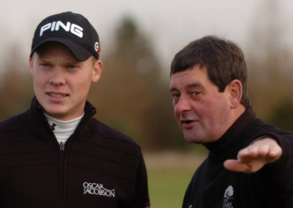 Graham Walker working with US MASTERS champion Danny Willett