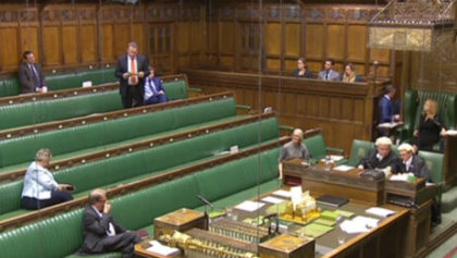 Golf Group Chairman Karl McCartney MP (standing) leads the debate on the Value of golf to the economy