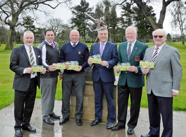 Golf pass proves swinging success: l to r Barry Blake (Harrogate Golf Club), James King (Rudding Park Golf Club), Ivor Roy (Knaresborough Golf Club), Michael Newby (Visit Harrogate), Mike Pearson (Ripon Golf Club) and Bruce Allison (Pannal Golf Club).