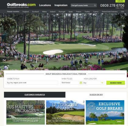 Golfbreaks.com website screen grab