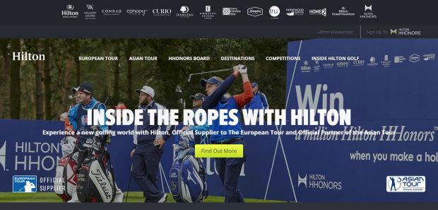HiltonGolf website
