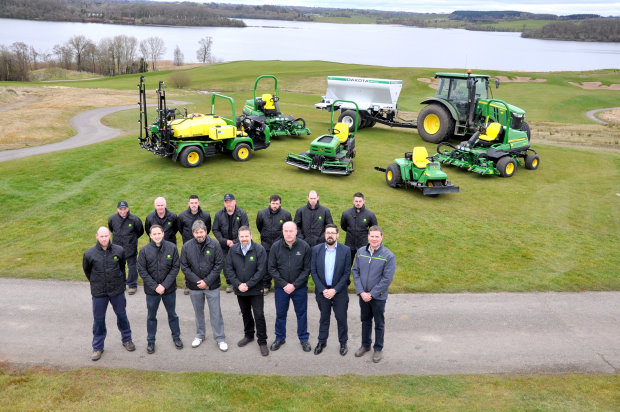 Lough Erne Golf Resort in Northern Ireland has recently invested in a fleet of new John Deere golf course maintenance machines supplied by Lisburn dealer Johnston Gilpin & Co.