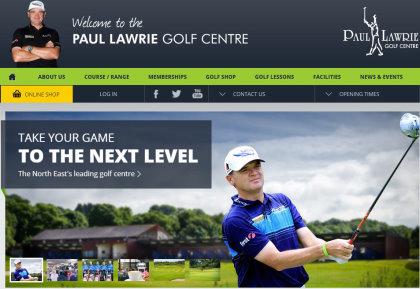 Paul Lawrie website screen