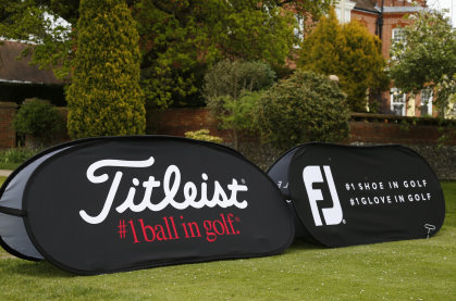 Titleist and FootJoy pop-ups (courtesy of Steve Bardens / Getty Images