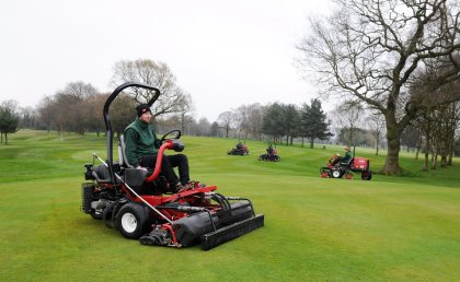 A selection of Astbury Golf Club's new Toro machines in action on the course