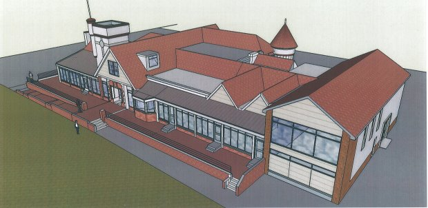 Troon Clubhouse – An artist's impression of how the new clubhouse will look when it opens early in 2017