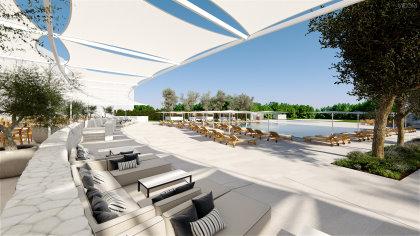 PGA Catalunya Resort's 5* hotel - poolside (computer generated image)