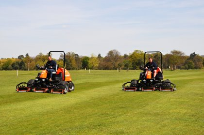 The LF570's in action on the course, striping the fairways