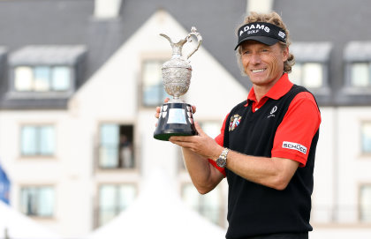 Bernhard Langer, 2010 Senior Open Champion (Photo by Ian MacNicol/Getty Images)