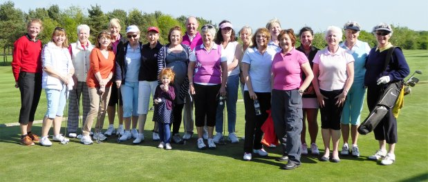Beginner golfers at Dinsdale Spa GC last year alongside then club professional Craig Helliwell. They have dubbed themselves the 'Tasty Ladies' after taking part in special taster sessions for beginners – since when they have gone on to become club members