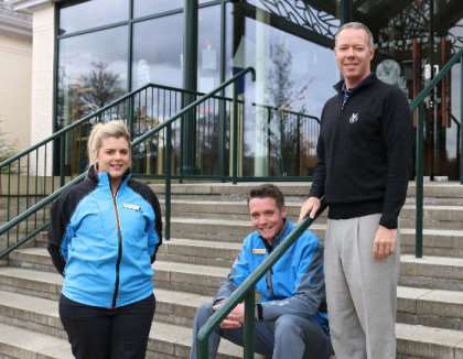 Gleneagles has appointed three new professionals to strengthen its golf offering. (from left) Nicola Taylor, Calum Lawson, David Blackadder