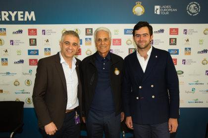 Ladies European Tour CEO Ivan Khodabakhsh, Hassan II Golf Trophy Association Deputy Vice Chairman Mustapha Zine and La Pradera de Potosi Event Director, Sebastian Pinzón.