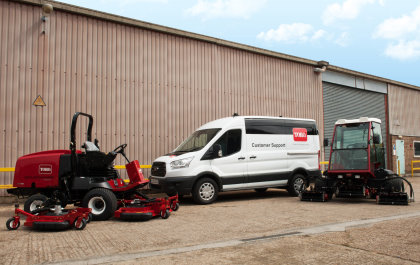 A new van for Toro distributor Lely Turfcare's first service centre in Scotland