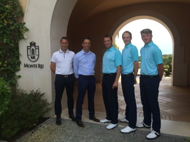 Monte Rei Professional Team, from left David Shepherd, David Ashington, Darren Griffiths, Chris Watt and Bradley Dye