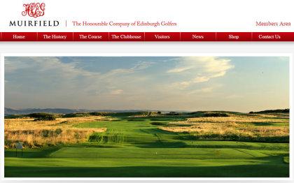Muirfield website home page grab