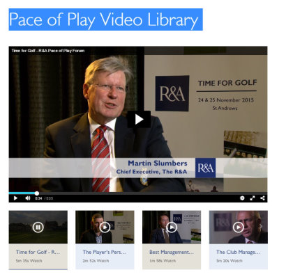 Pace of Play video library