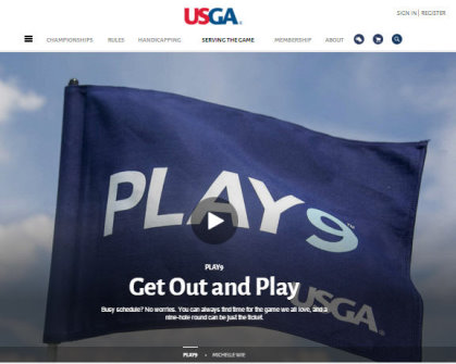Play9 web page