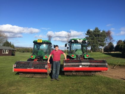Redexim Coring equipment at Knotty Hill Golf Centre