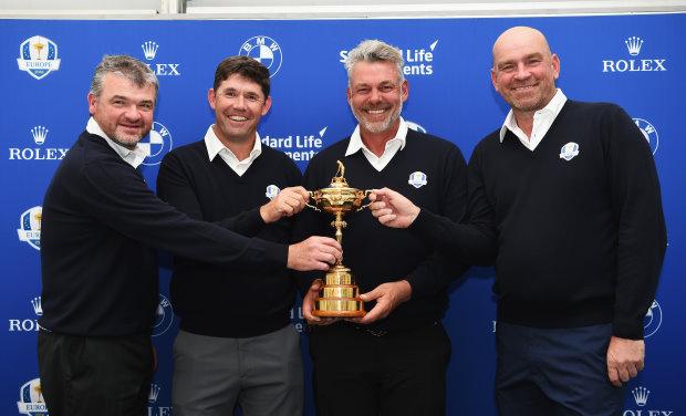 (from left) Paul Lawrie, Padraig Harrington, Darren Clarke and Thomas Bjørn(Getty Images)