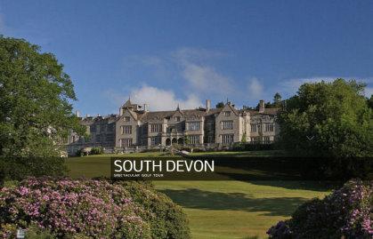 South Devon Golf Tour website grab