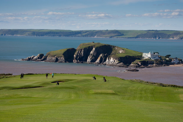 South Devon Golf Tour - Thurlestone Golf Club, overlooking Burgh Island